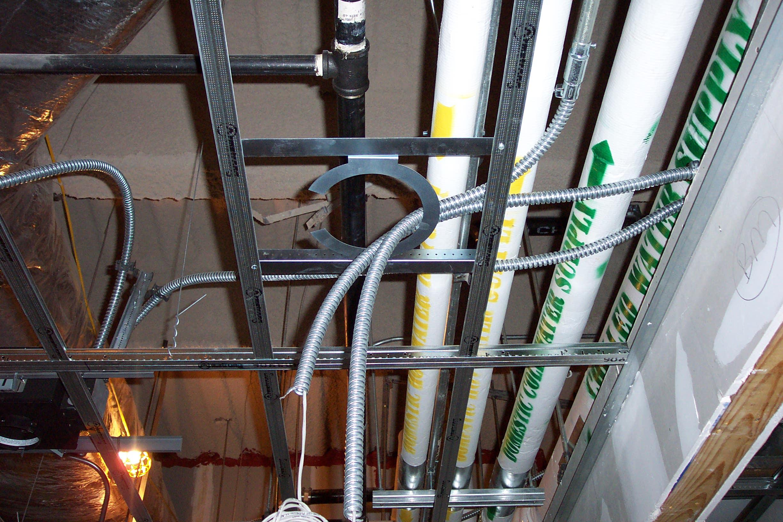 Speaker Bracket Before Sheetrock Ceiling Installed